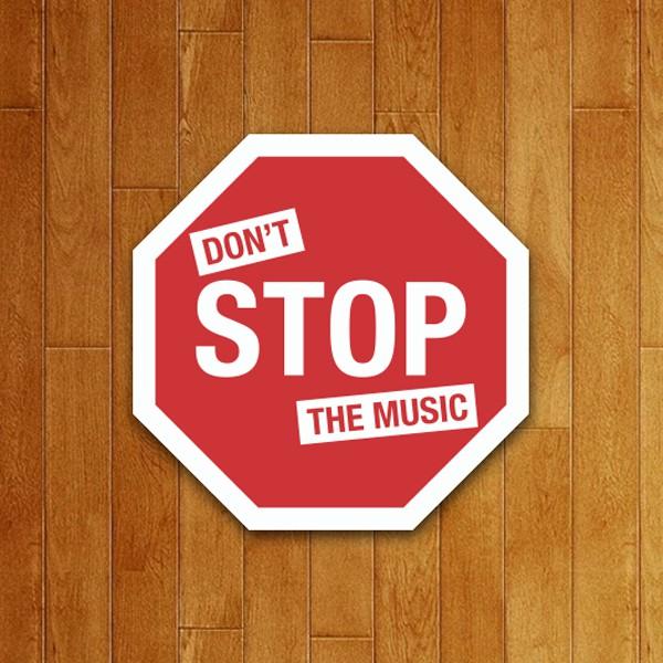 Placa Decorativa Don't Stop The Music