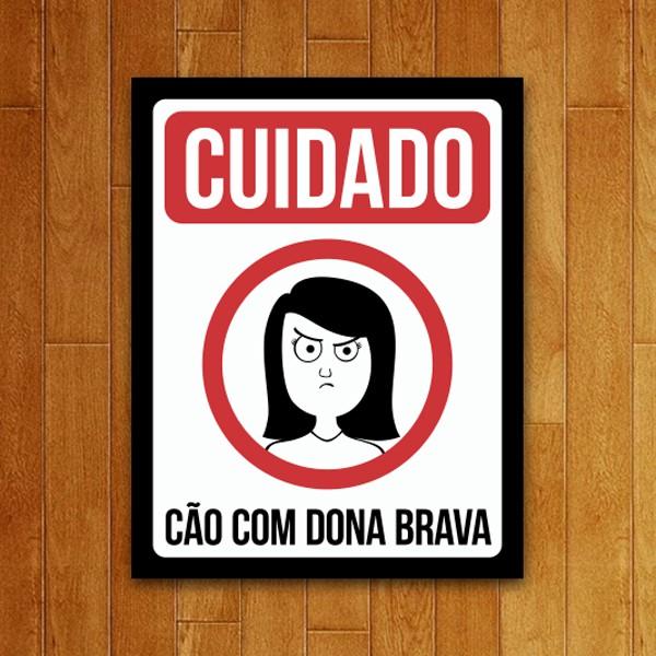 Placa Decorativa Dona Brava