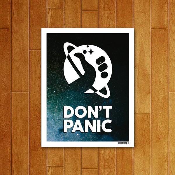 Placa decorativa Dont Panic