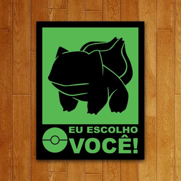 Placa Decorativa Eu Escolho Você Verde
