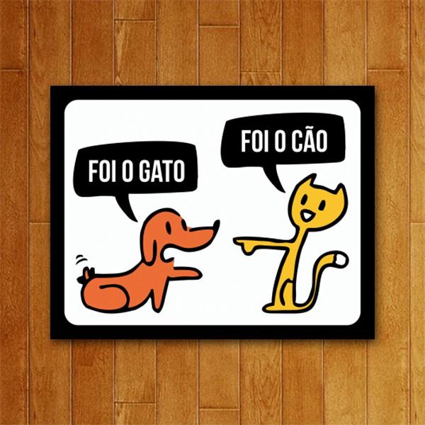 Placa Decorativa Foi o Gato
