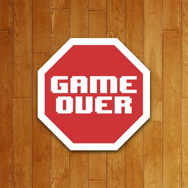 Placa Decorativa Game Over (v2)