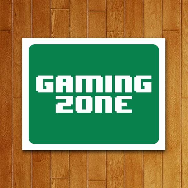 Placa Decorativa Gaming Zone (v2)