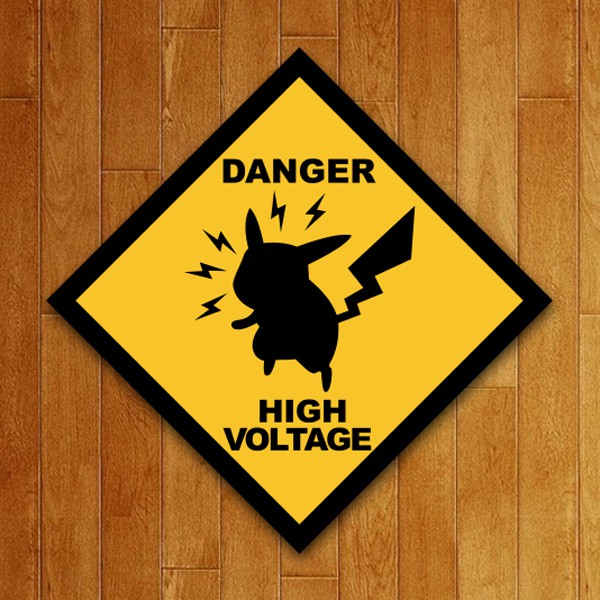 Placa Decorativa High Voltage
