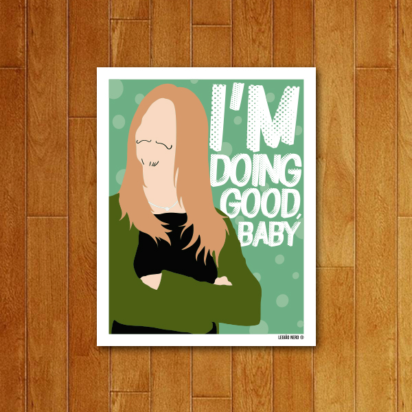Placa Decorativa I'm Doing Good Baby