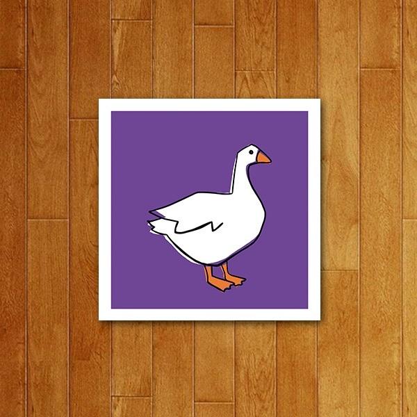 Placa decorativa Icone Ganso