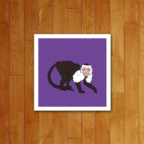 Placa decorativa Icone Macaco