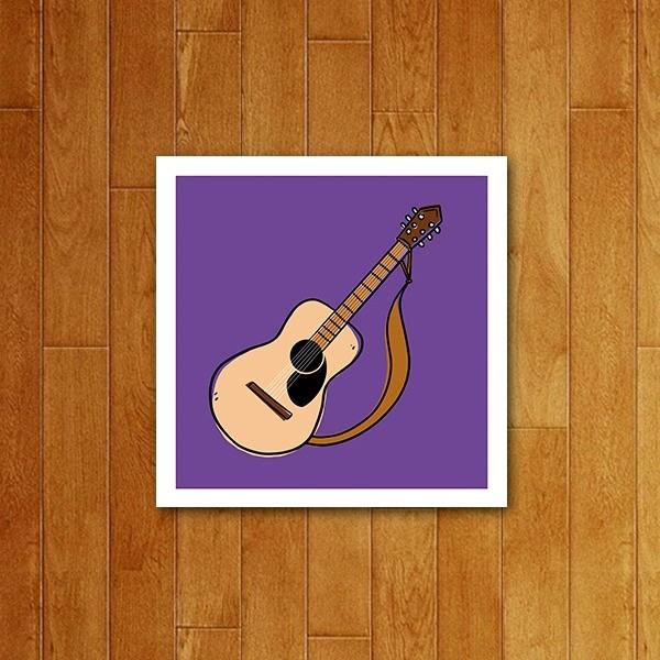 Placa decorativa Icone Violão