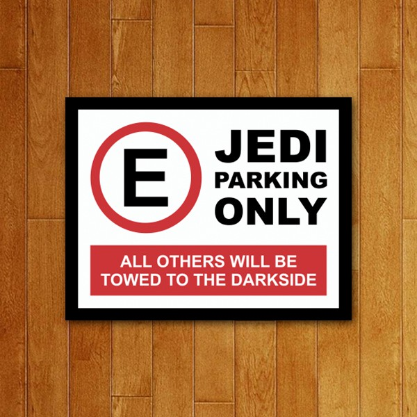 Placa Decorativa Jedi Parking