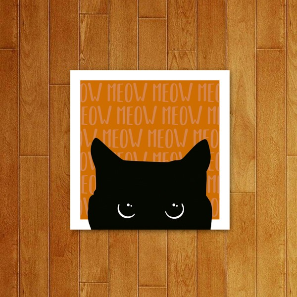 Placa decorativa Meow (v3)