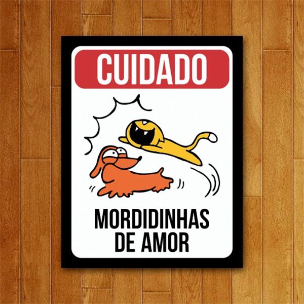 Placa Decorativa Mordidinhas de Amor