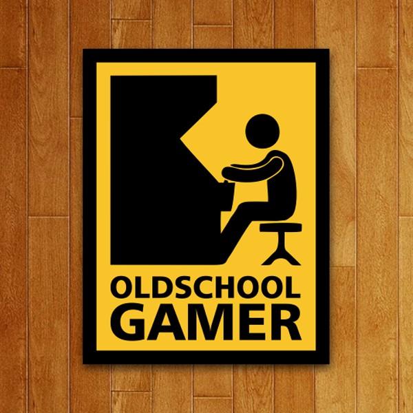 Placa Decorativa Old School Gamer
