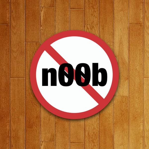 Placa Decorativa Proibido Noob