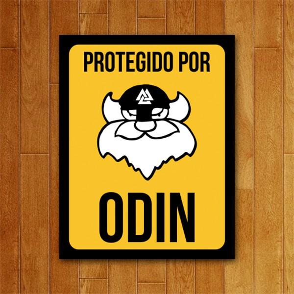Placa Decorativa Protegido por Odin