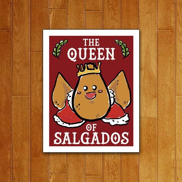 Placa decorativa Queen of salgados