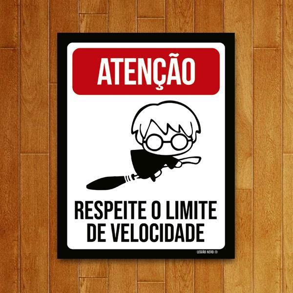 Placa Decorativa Respeite os limites de velocidade (v2)