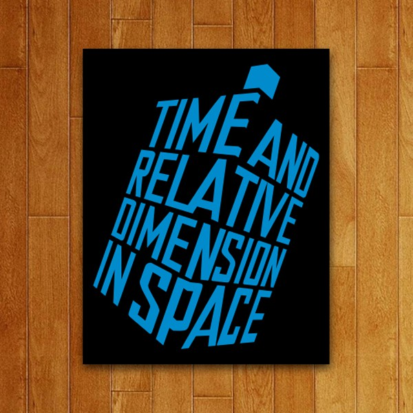 Placa Decorativa Time and Space