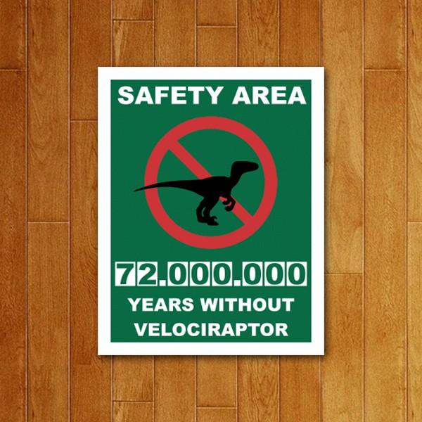 Placa Decorativa Velociraptor