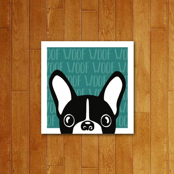 Placa decorativa Woof Woof (v3)