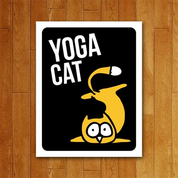 Placa Decorativa Yoga Cat