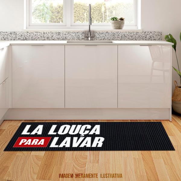 Tapete de cozinha - La louça para lavar