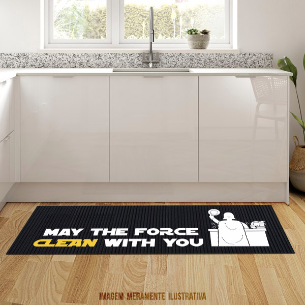 Tapete de cozinha - May the force CLEAN with you