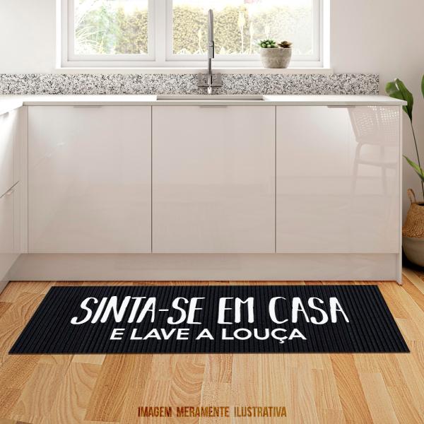 Tapete de cozinha - Sinta-se em casa e lave a louça