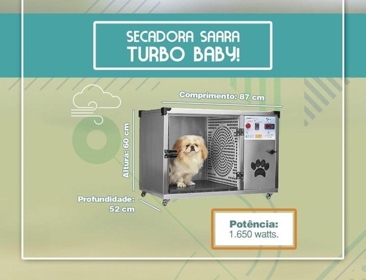 SECADORA SAARA TURBO BABY INOX - ÔMEGA