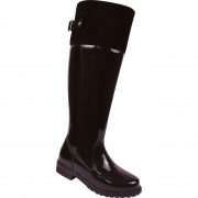 Bota over the knee Infantil Pekilili cano longo verniz preto