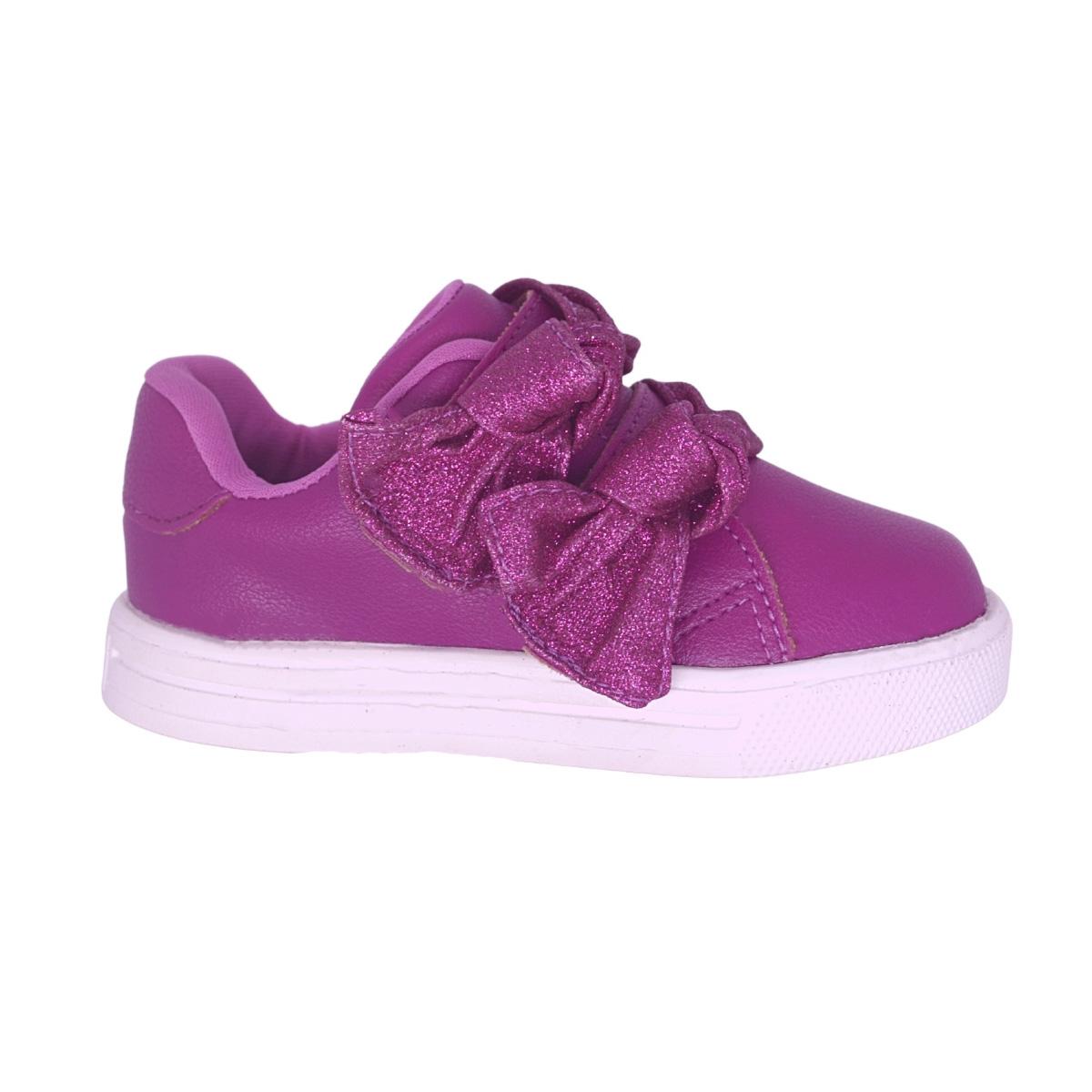 Tenis Infantil Baby Pink com brilho
