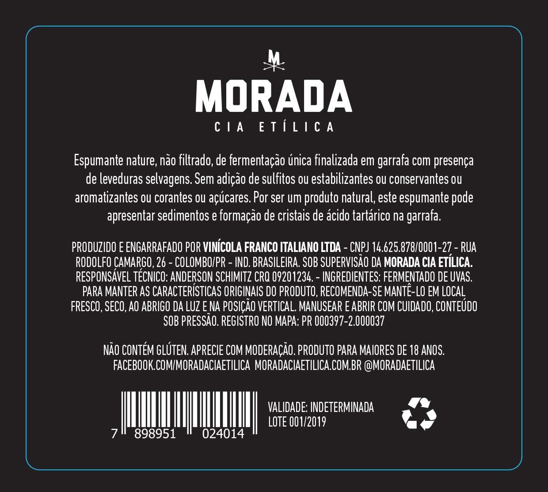 Espumante Natural  Eu Borbulho  Merlot - Rosé - Morada Cia Etílica