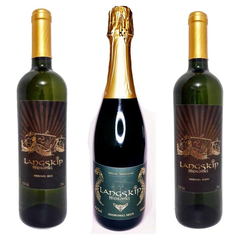 Kit hidroméis Langskip - 3 garrafas.