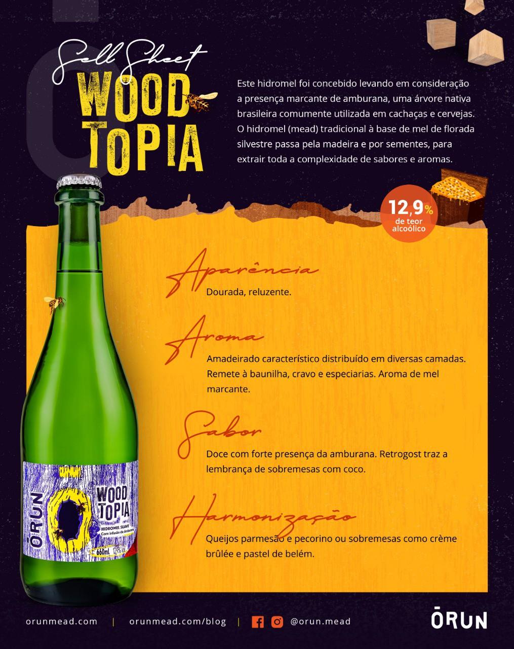 Hidromel Orun Woodtopia - 660ml
