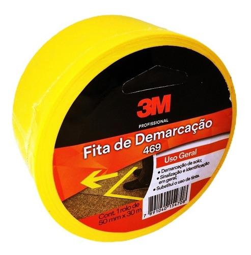 FITA DEMARCAÇÃO DE SOLO REF.469 50MMX30M - 3M - AMARELA