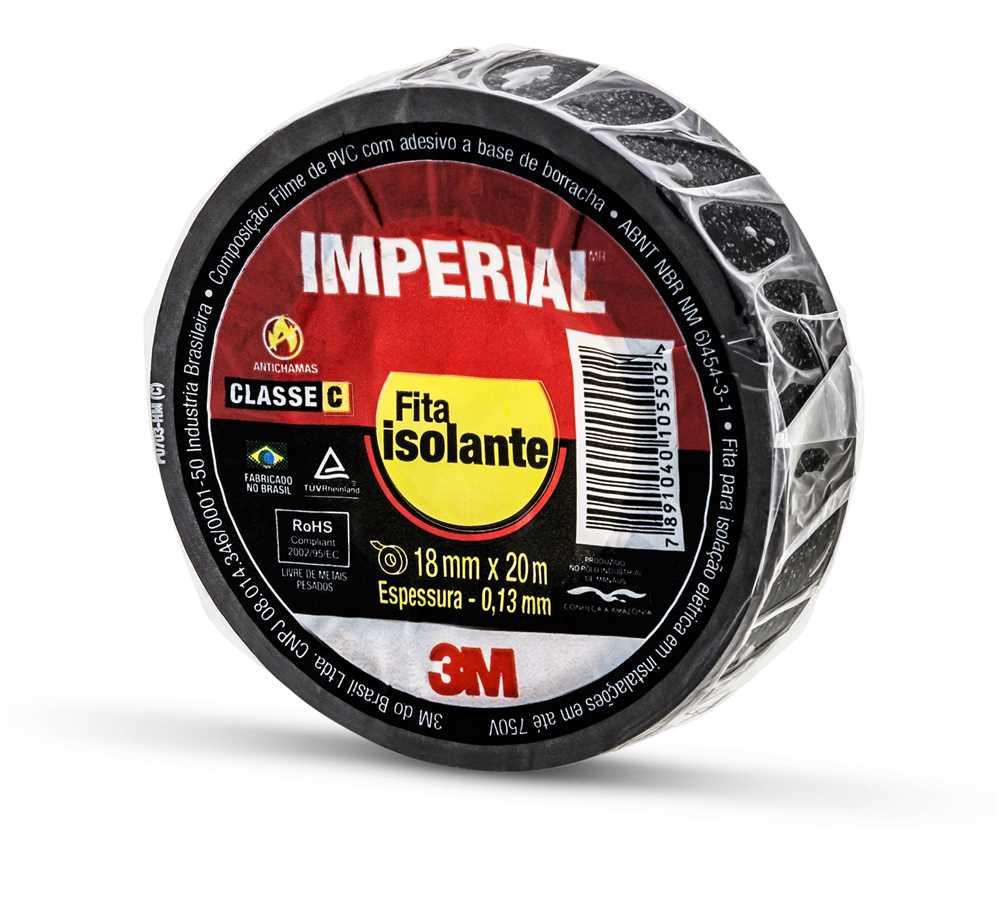 FITA ISOLANTE IMPERIAL SLIM 18MMX20M 3M (10 ROLOS)
