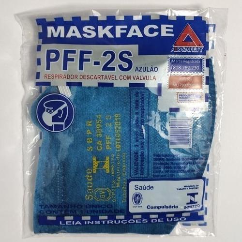 KIT 10 MASCARAS PFF-2S AZUL ROYAL C/ VALVULA AIRSAFETY CA.38954