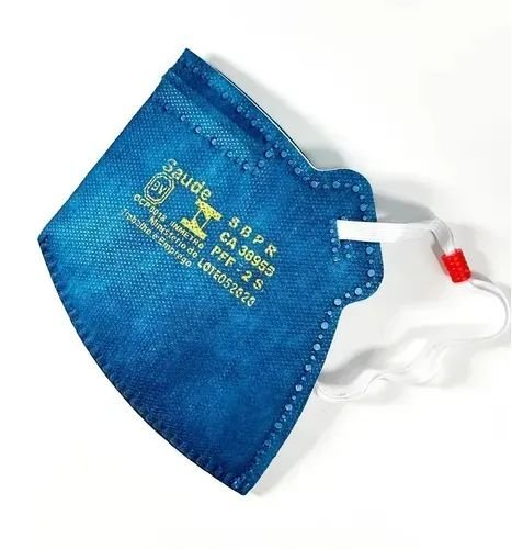 KIT 50 Respirador MASKFACE PFF-2S Azul Royal CA Nº 38955