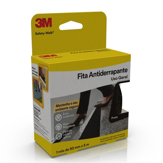 FITA ANTIDERRAPANTE SAFETY WALK PRETO 50MMX5M - 3M
