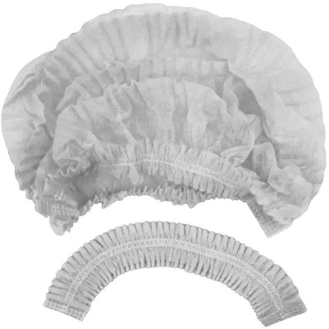 Touca Descartavel Branca 12gr c/ Elastico Duplo (PCT C/ 100 UNIDADES)