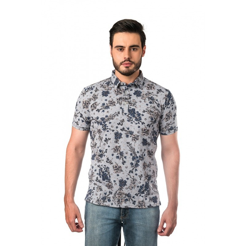 POLO TREZANAS TROPICAL GRAY