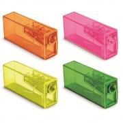 Apontador FABER CASTELL Plástico Com Deposito Fluor 1un.