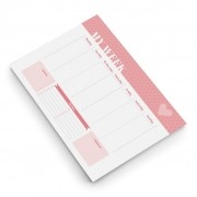 Bloco ÓTIMA Semanal A4 Pink Stone