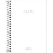 Caderno TILIBRA Espiral 1/4 Neon 80fls.