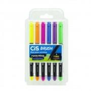 Caneta CIS Brush Pen Aquarelável Neon 6un.
