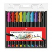 Caneta FABER CASTELL Brush Super Soft 10un