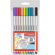Caneta STABILO Brush Pen 68  10un