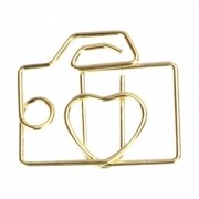 Clips MOLIN Câmera Dourado 25mm Molin 12un.