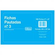 Fichas Pautadas TILIBRA nº 3 202x124mm
