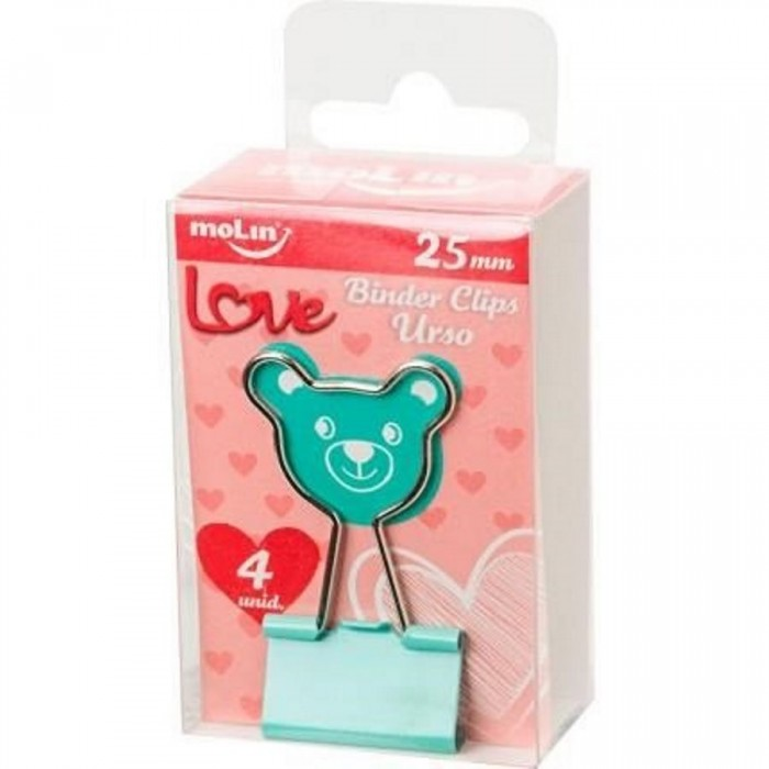 Binder MOLIN Love Urso 25 mm Verde 4 un.
