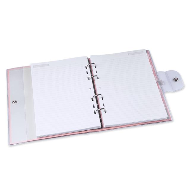 Caderno ÓTIMA Argolado PVC Pink Stone Love